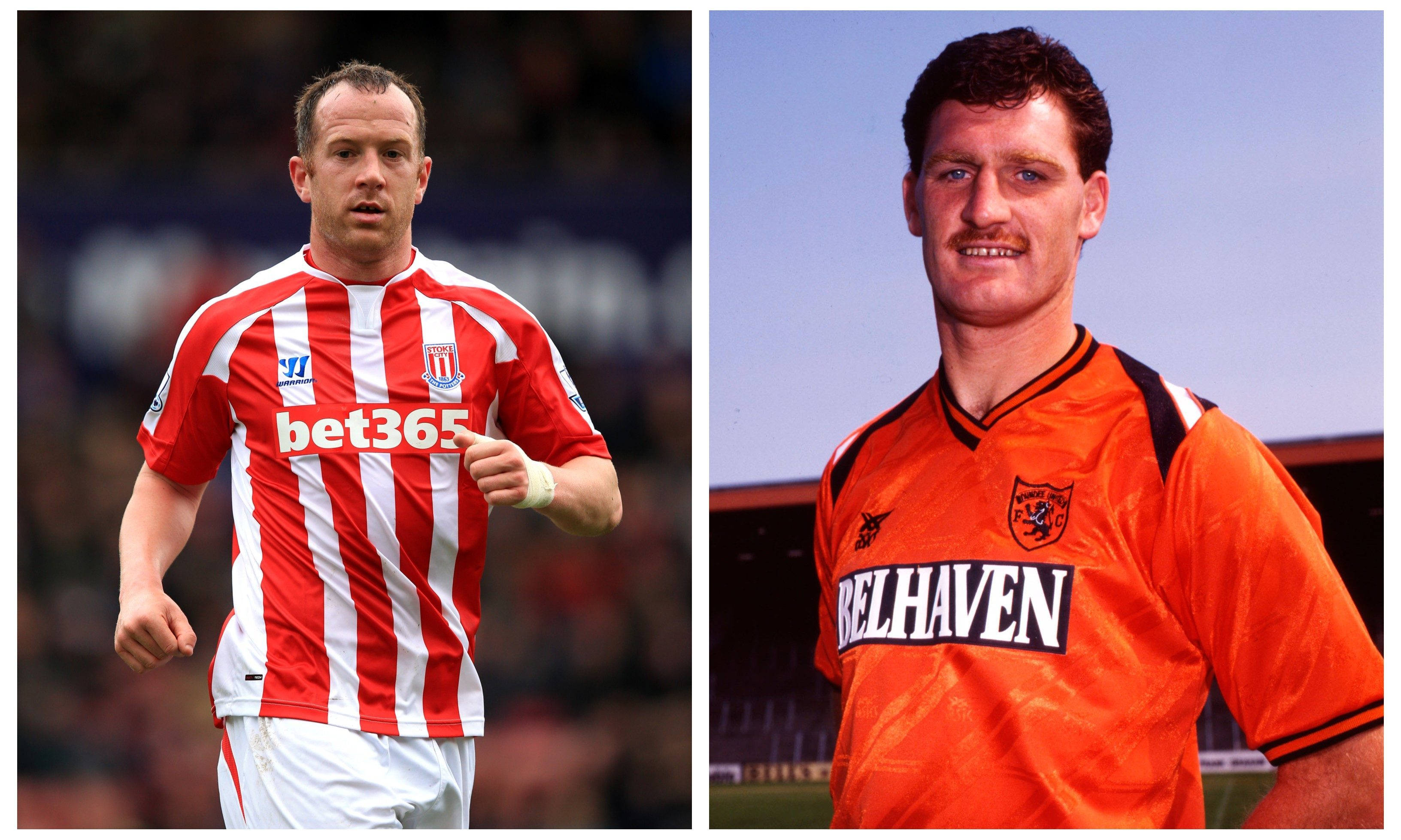 Charlie Adam Junior (left) and Senior (right).