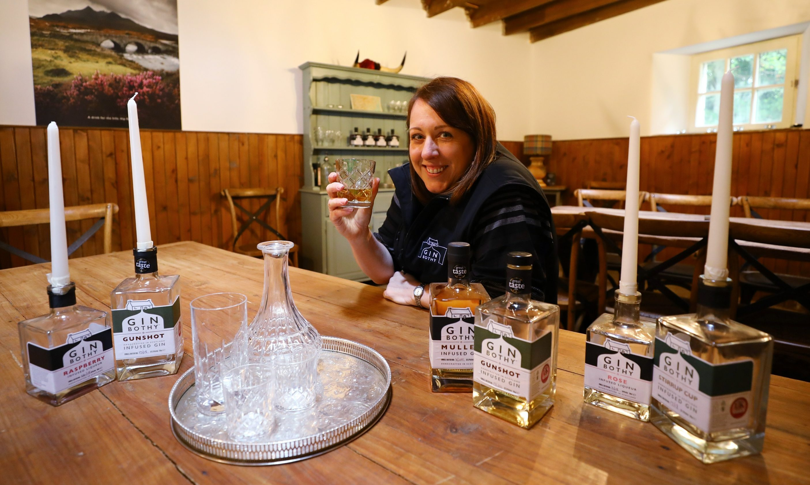 Kim Cameron, owner of the Gin Bothy.