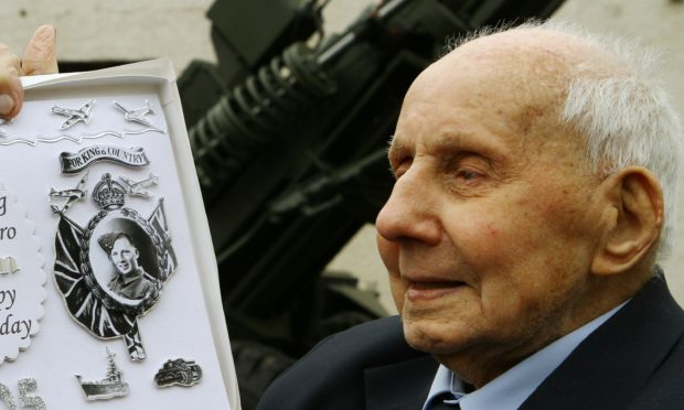 Jimmy Sinclair pictured on his 105th birthday