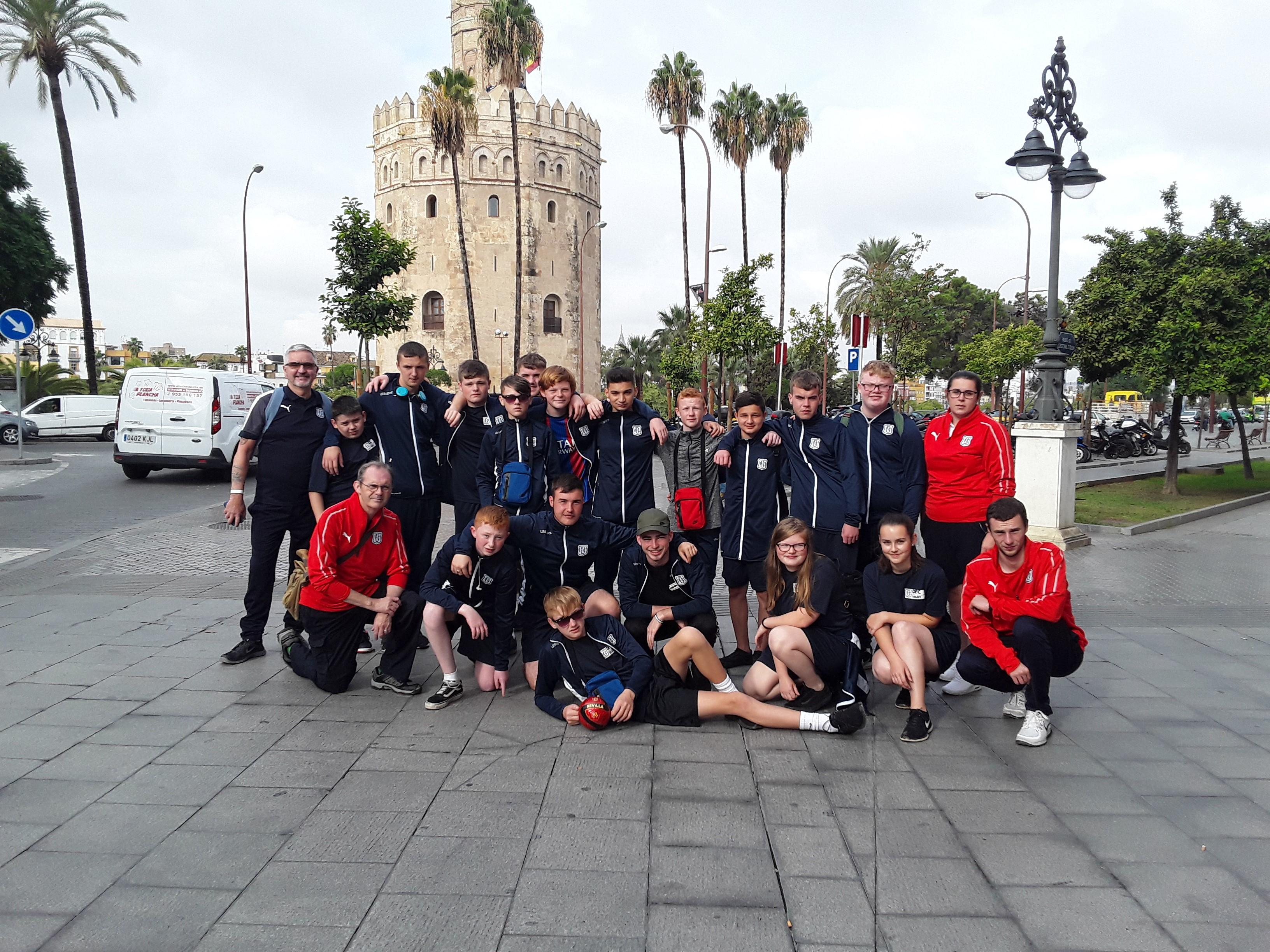 The team in Spain.