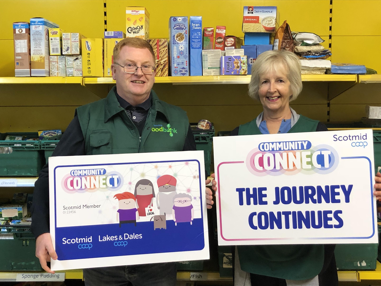 Dunfermline Foodbank administrator John Thompson and volunteer Vanessa Gaskill