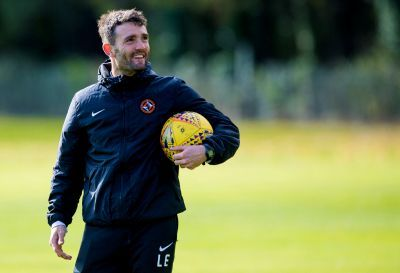 Laurie Ellis takes training at St Andrews.
