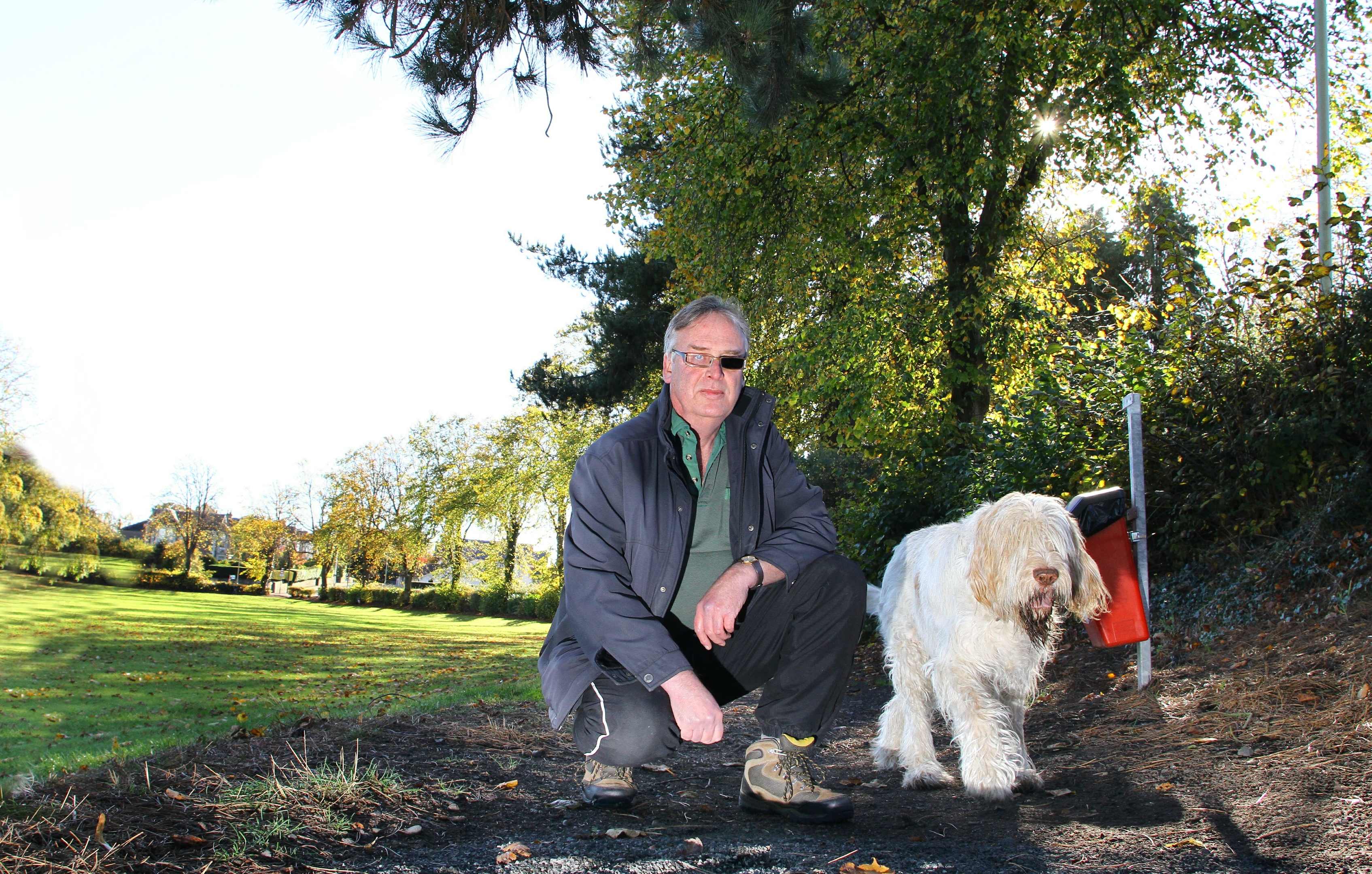 Peter Anderson with his dog.