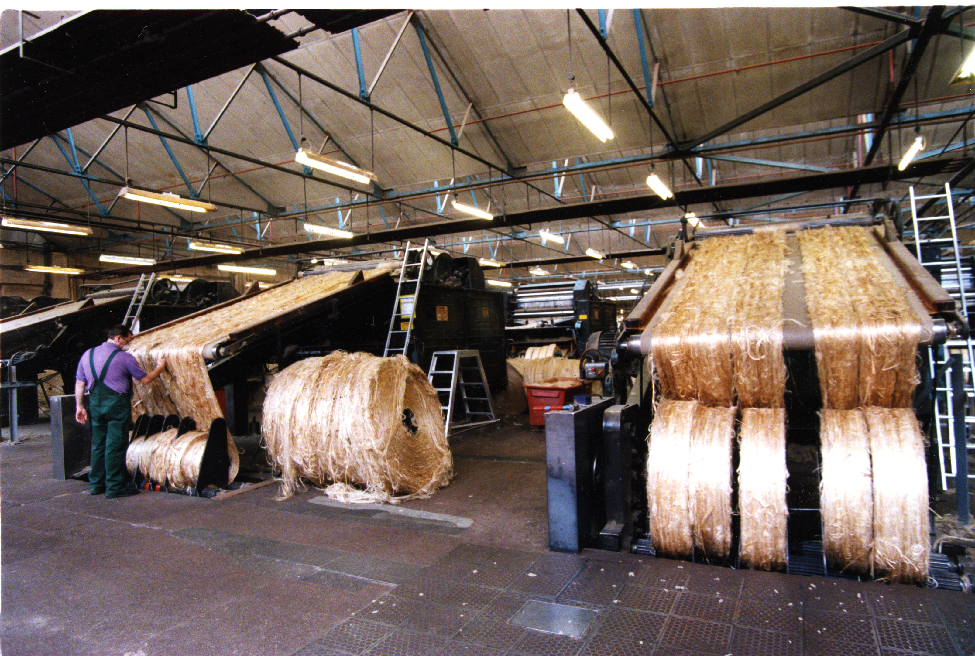 The jute was processed for the final time towards the end of 1998 at Tay Spinners.