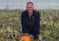 Grant Reid with his new range of pumpkins.