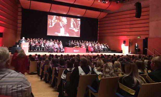 The Perth College graduation ceremony at Perth Concert Hall
