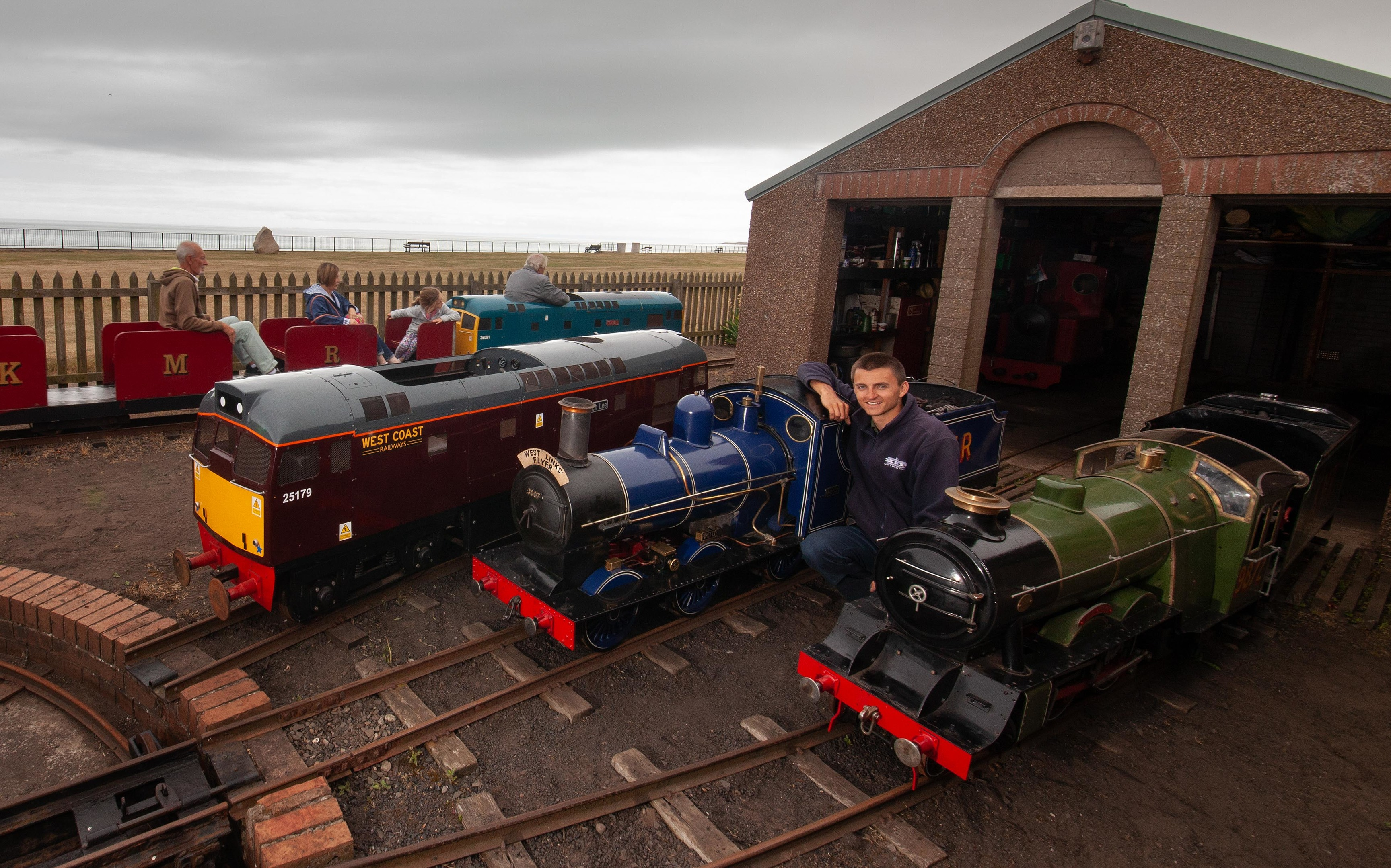 Scotland's oldest miniature railway opens for the summer season with special steam trains among the attractions. As always, it will be the highlight of summer season and kids will be queuing up as usual to ride on John's trains which have been going since 1935.  Pic shows John Kerr, owner.  Pic Paul Reid