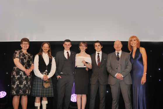 Staff and pupils from Kirkcaldy High picked up the award at the Fairmont St Andrews last week.