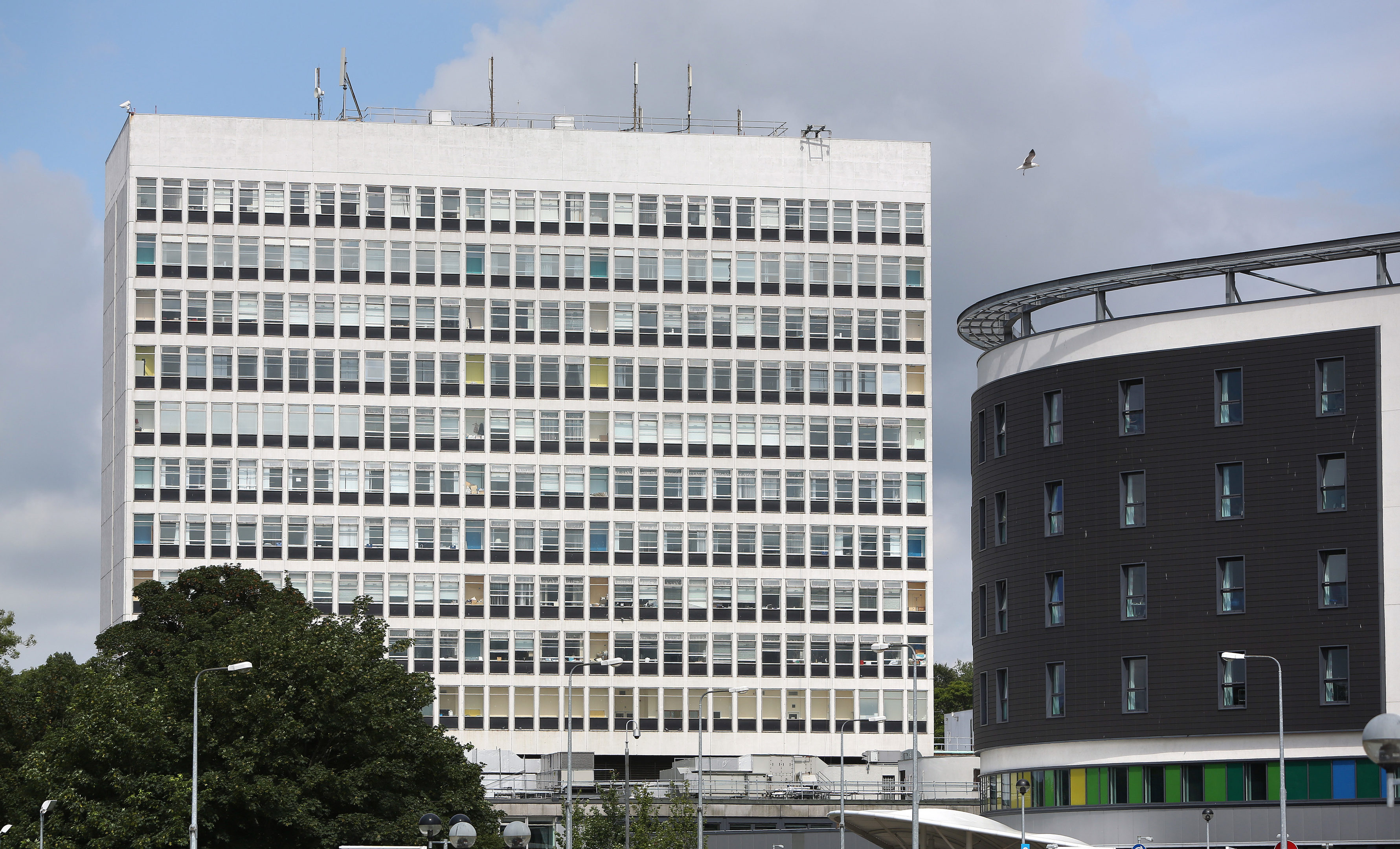 The tower block at Victoria Hospital