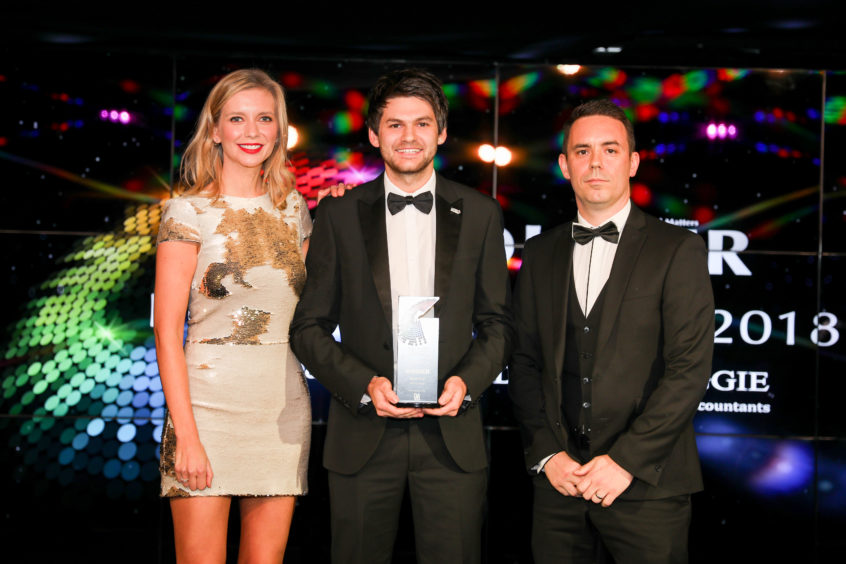 Apprentice of the Year, Ryan Fair of Fife Council Services.