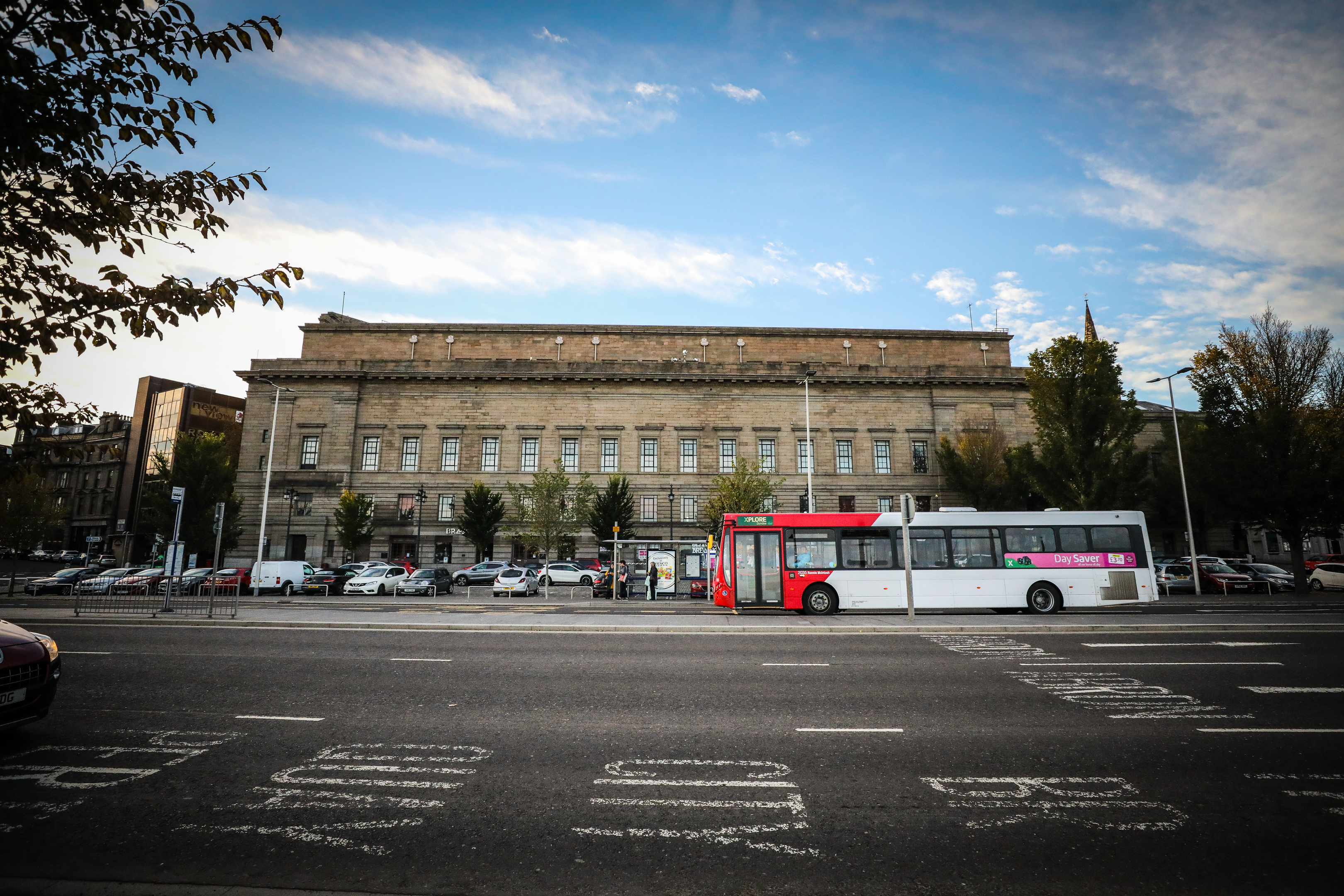 The rear of Caird Hall, Dundee.