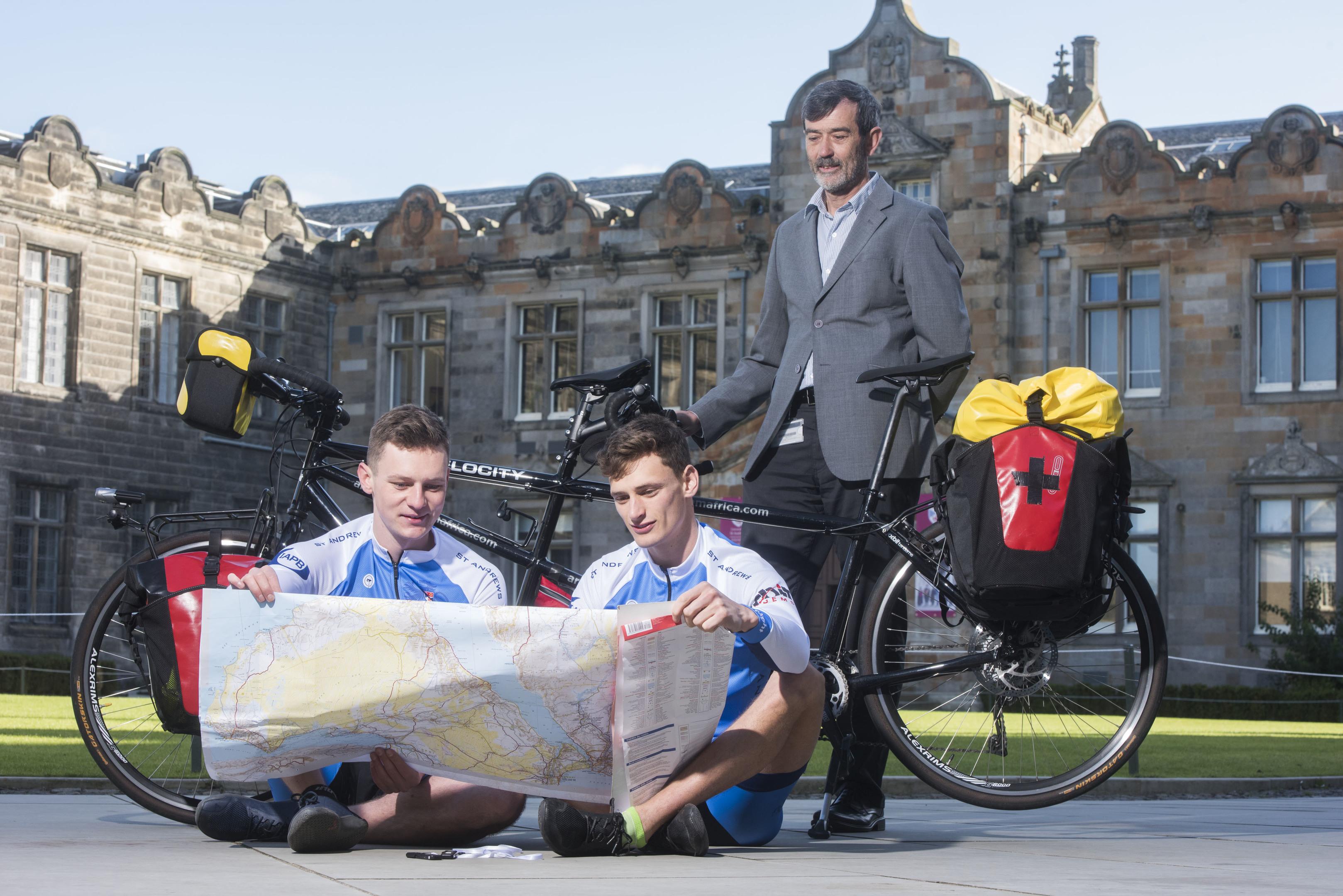 Alex, Merlin and Professor Frank Sullivan from St Andrews University.