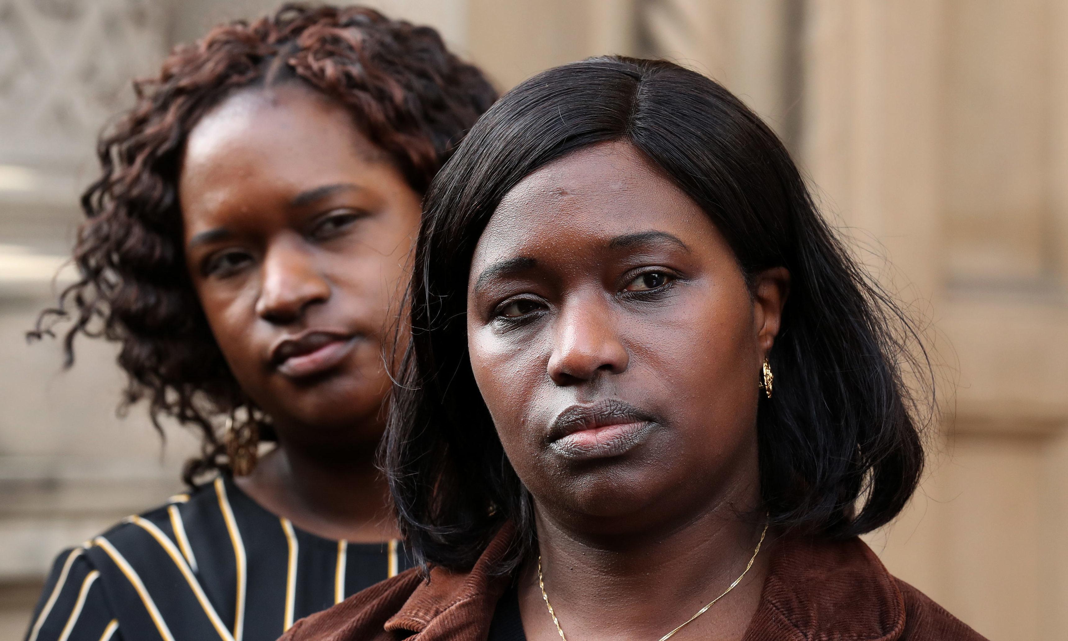Kadijatu Johnson (right) and Adama Jalloh sisters of Sheku Bayoh.
