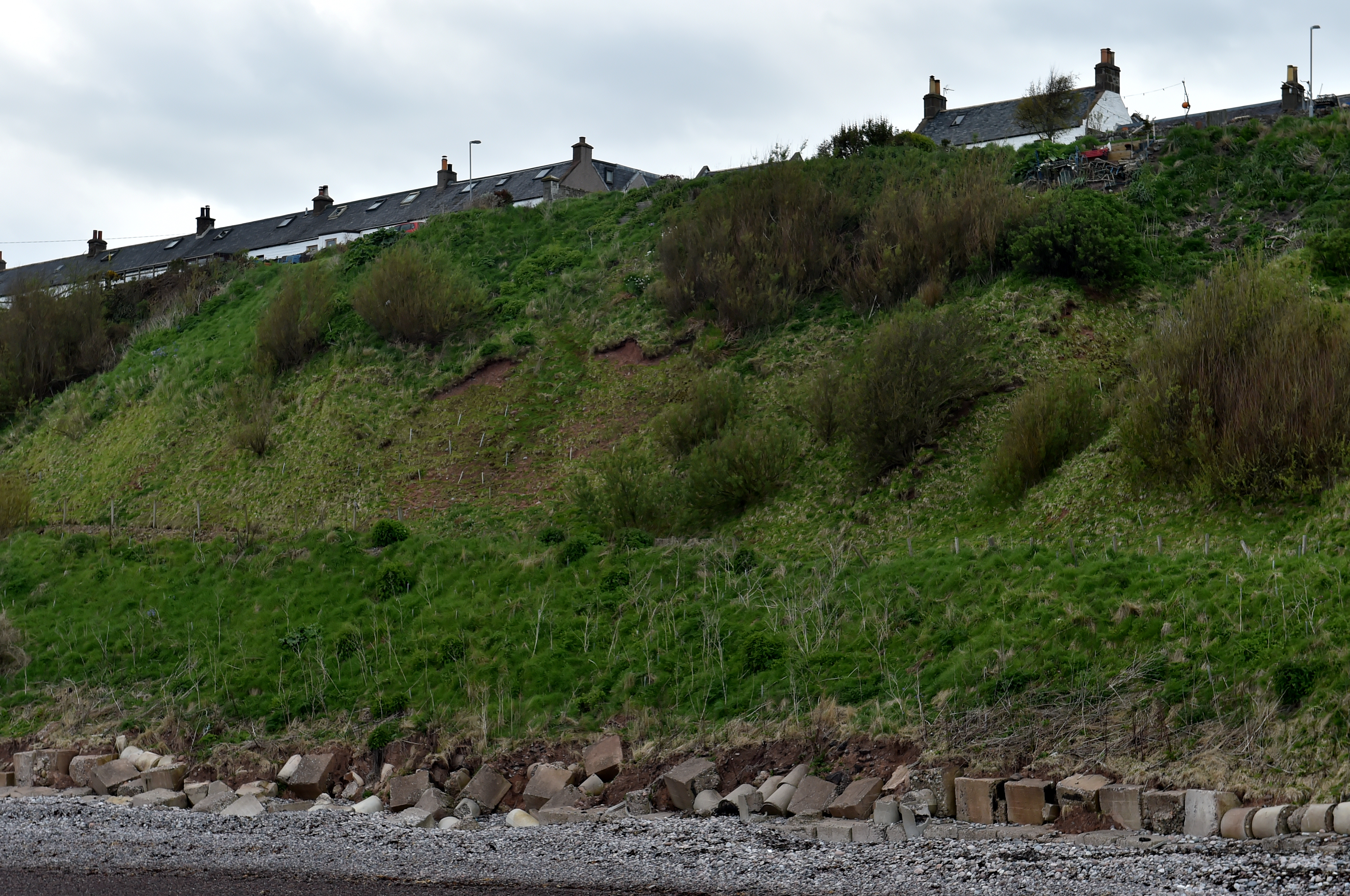 Catterline near Stonehaven has suffered with coastal erosion in the past.