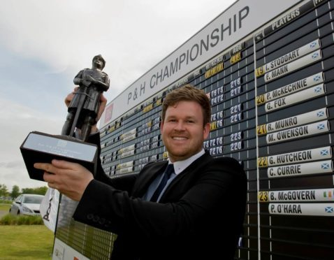 Tartan Tour champion Paul O'Hara is co-leader going into the final round of the Scottish PGA at Gleneagles.