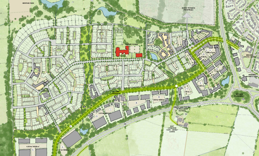 Map of the planned Perth West site.