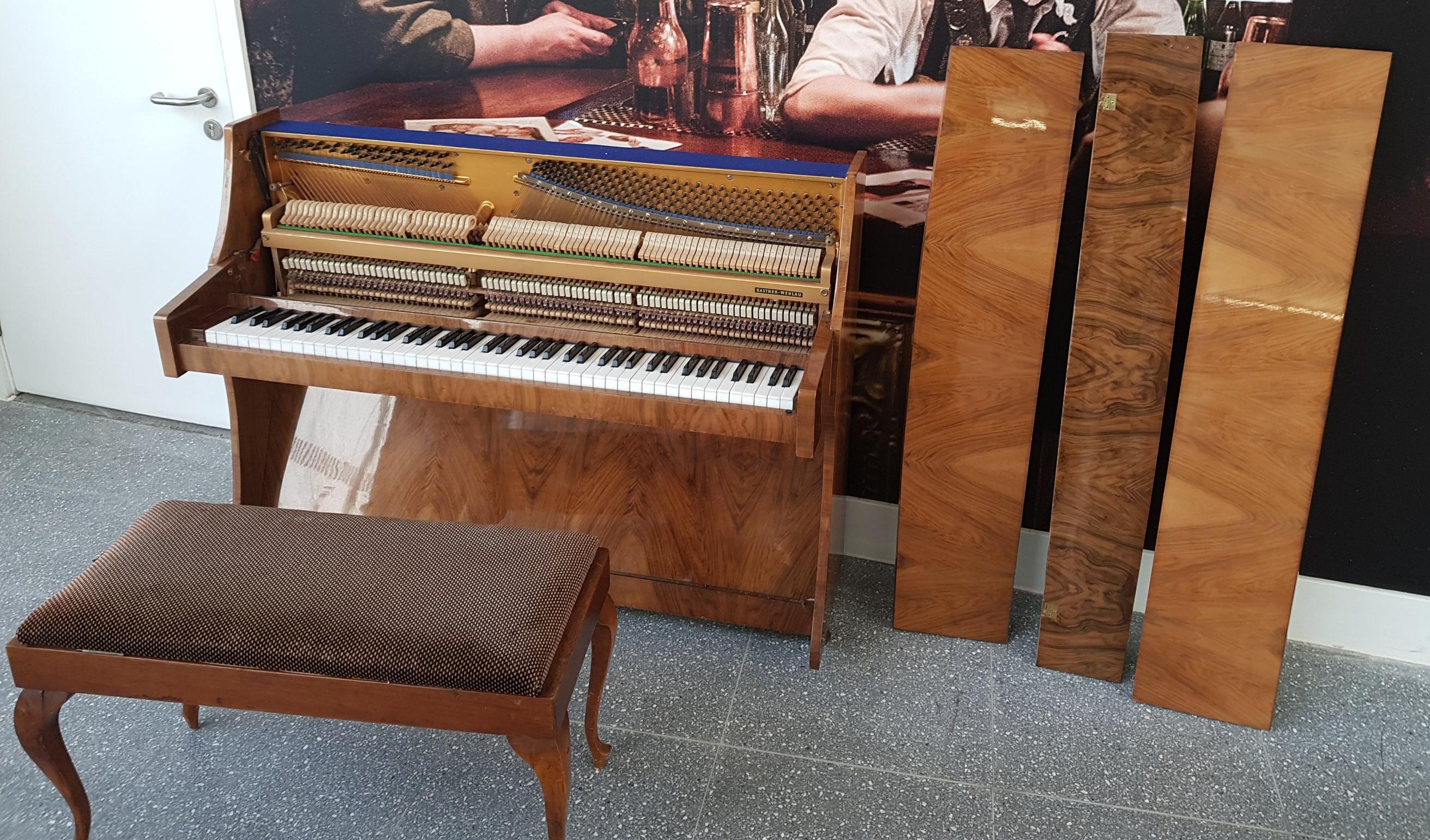 The damaged original piano.