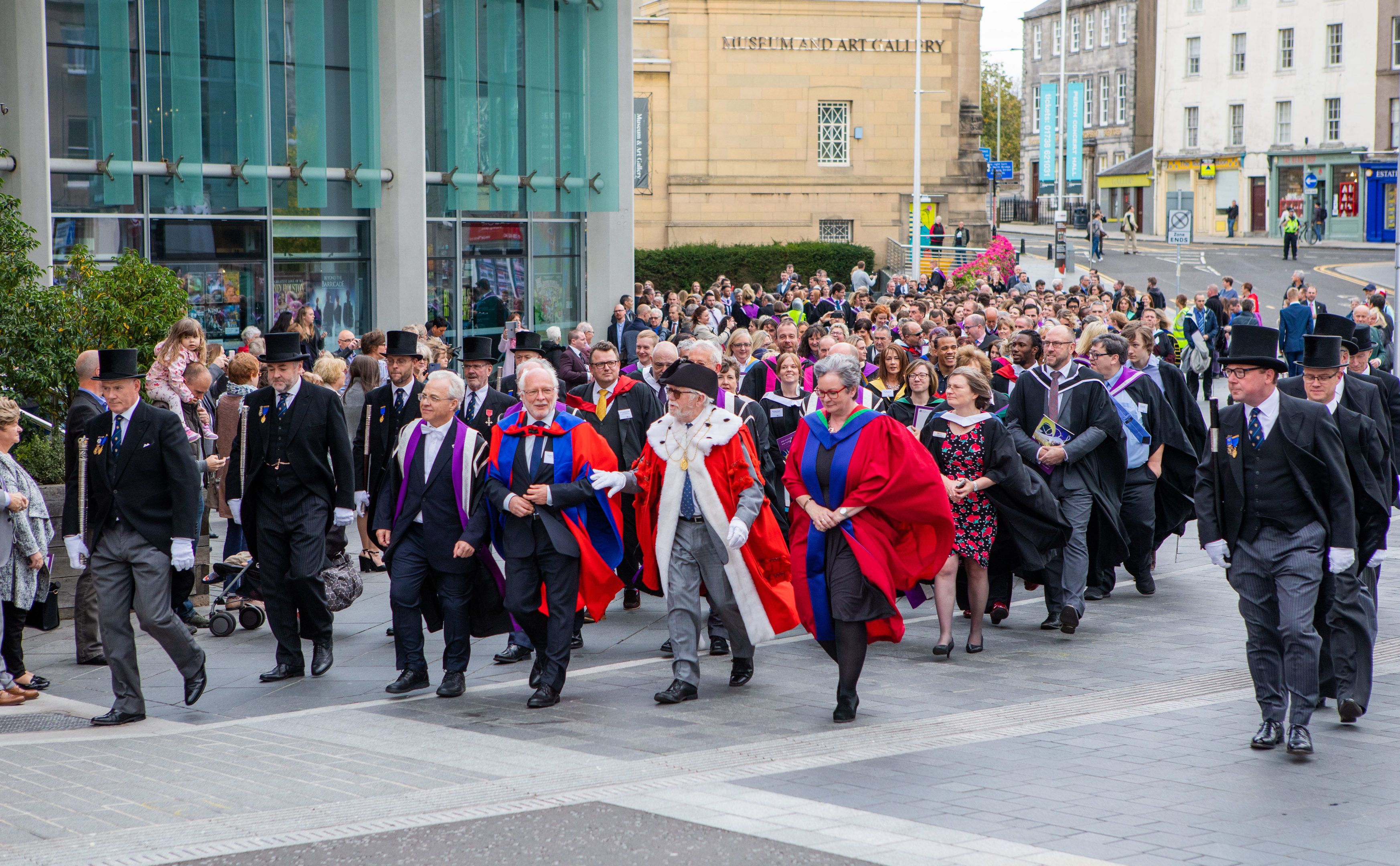 The Perth College graduation ceremony.