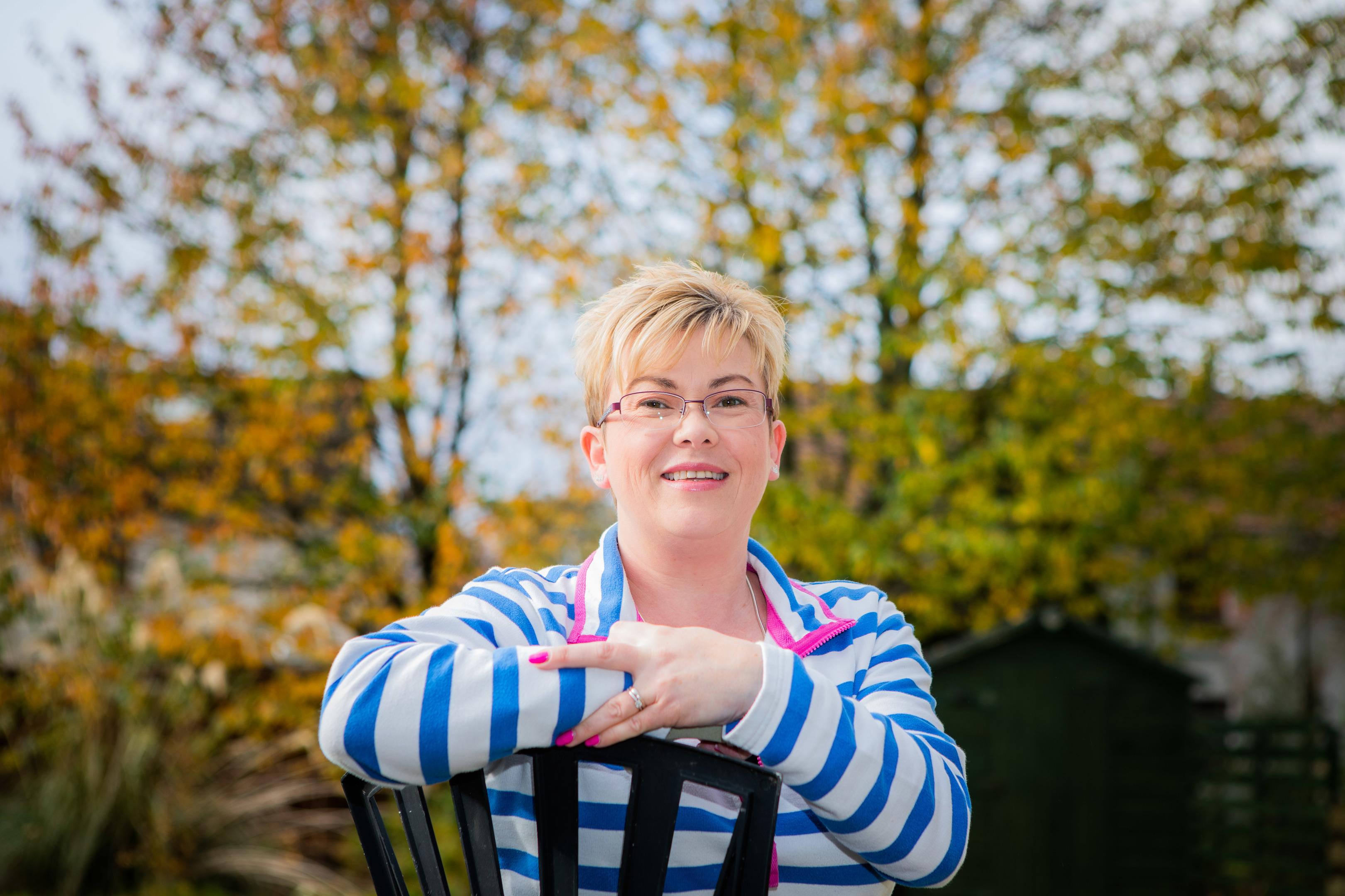 Debbie Matthew is battling back to health after a stroke.