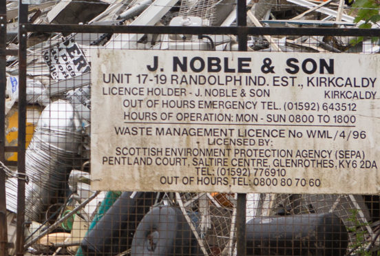 Kirkcaldy-based J Noble and Son was one of three Fife firms rated very poor