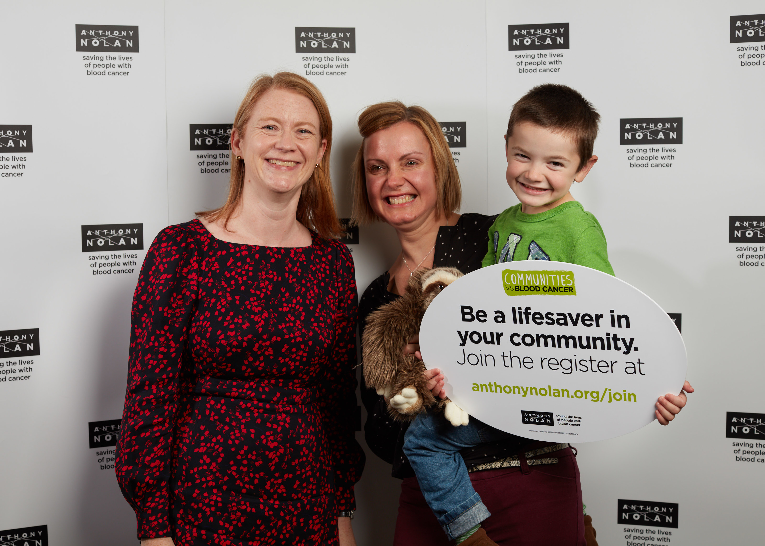 MSP Shirley-Anne Somerville with Olly Walls and his mum Jen (centre).