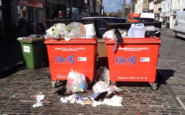 Bins in Market Street in particular have been causing concern - but Fife Council is proposing a solution.