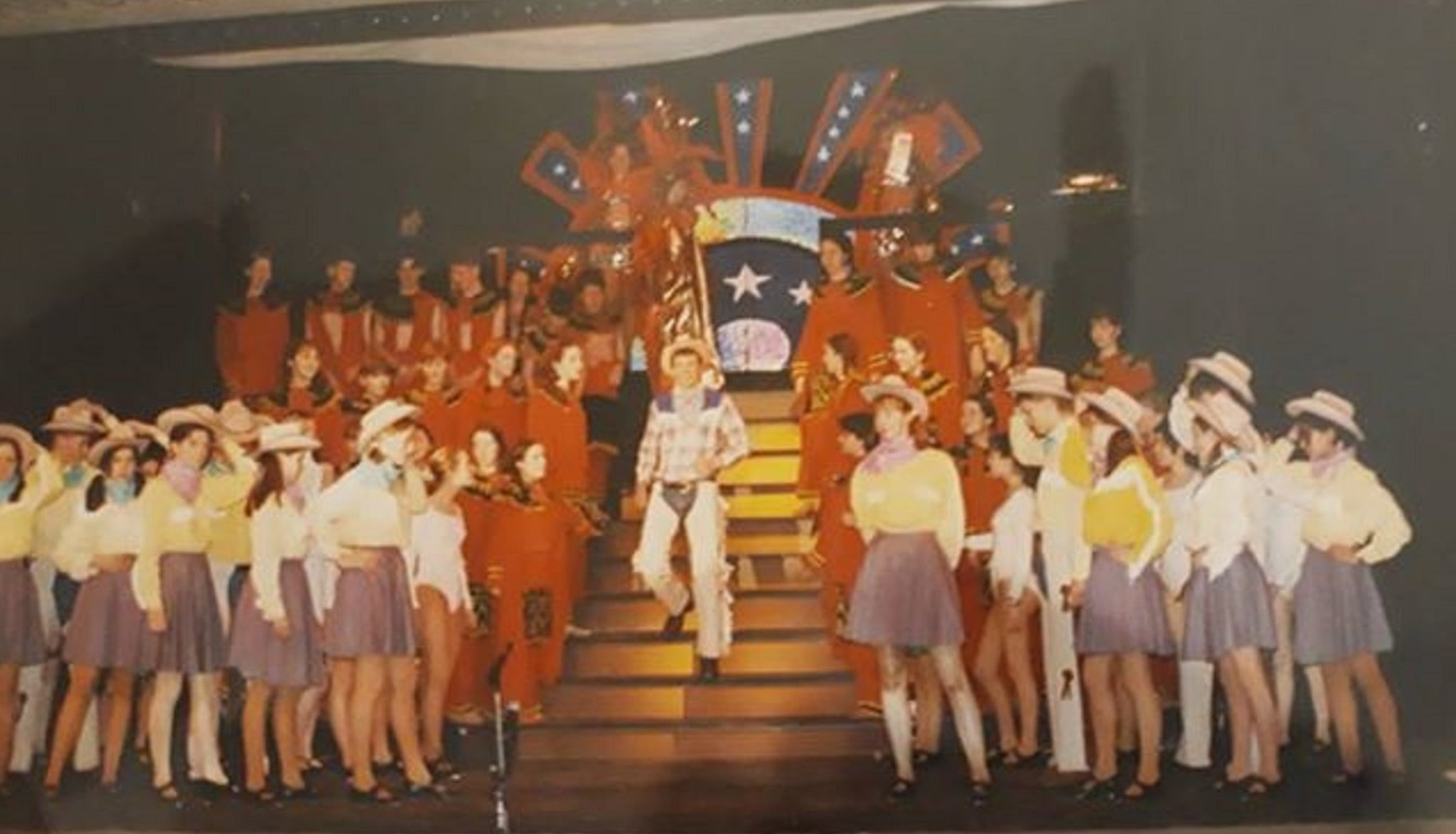 Members oF Kirkcaldy Youth Music Theatre perform the Scottish Premiere of Will ROgers Follies i 1996