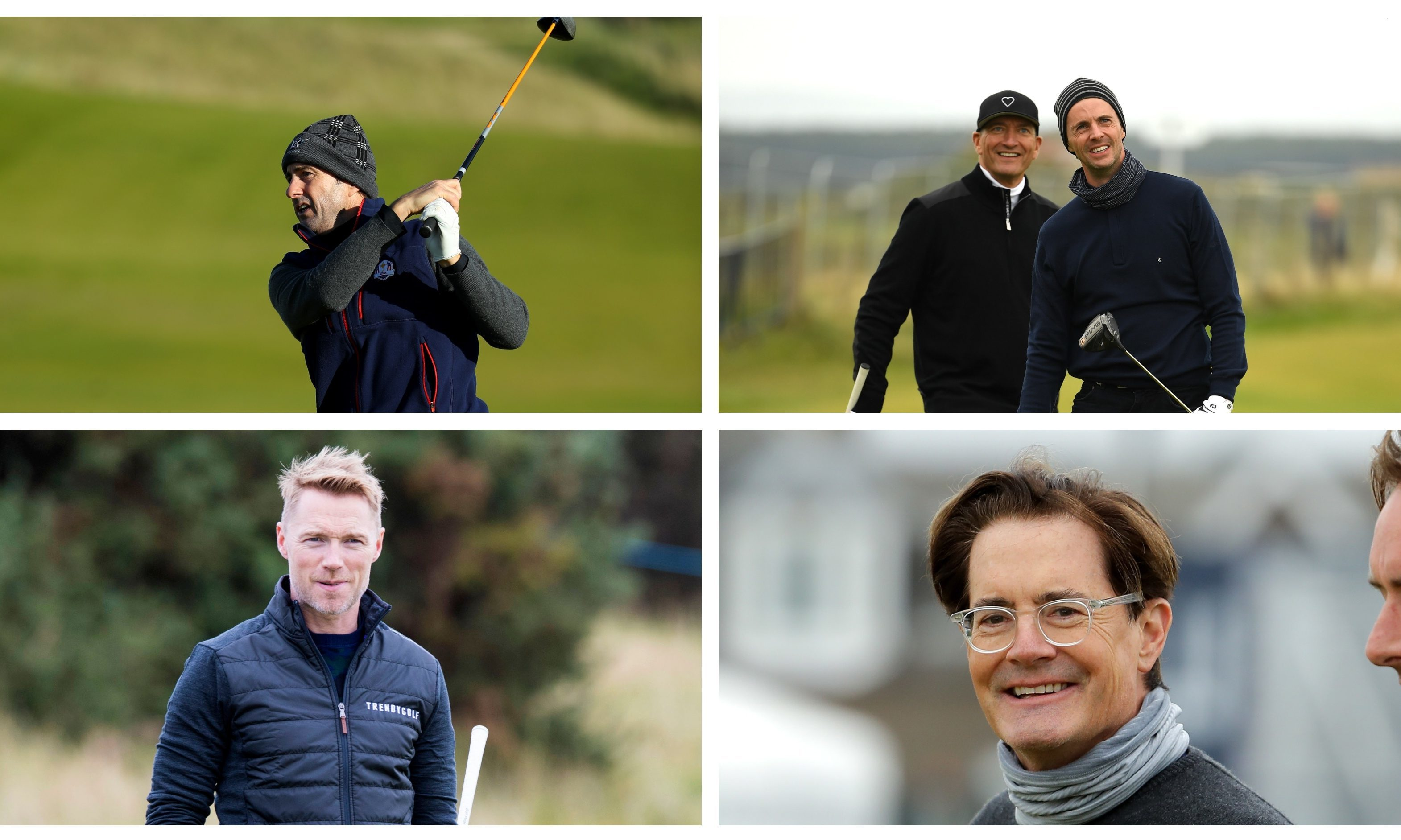 Celebrities arrive in Courier Country for the 2018 Alfred Dunhill Links Championship.
