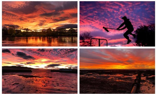 These photos of Wednesdays sky were taken by readers Michael Souter, Heidi Hayward, Kirsty Speers and Vicky Gunn. They were submitted to our Facebook page.