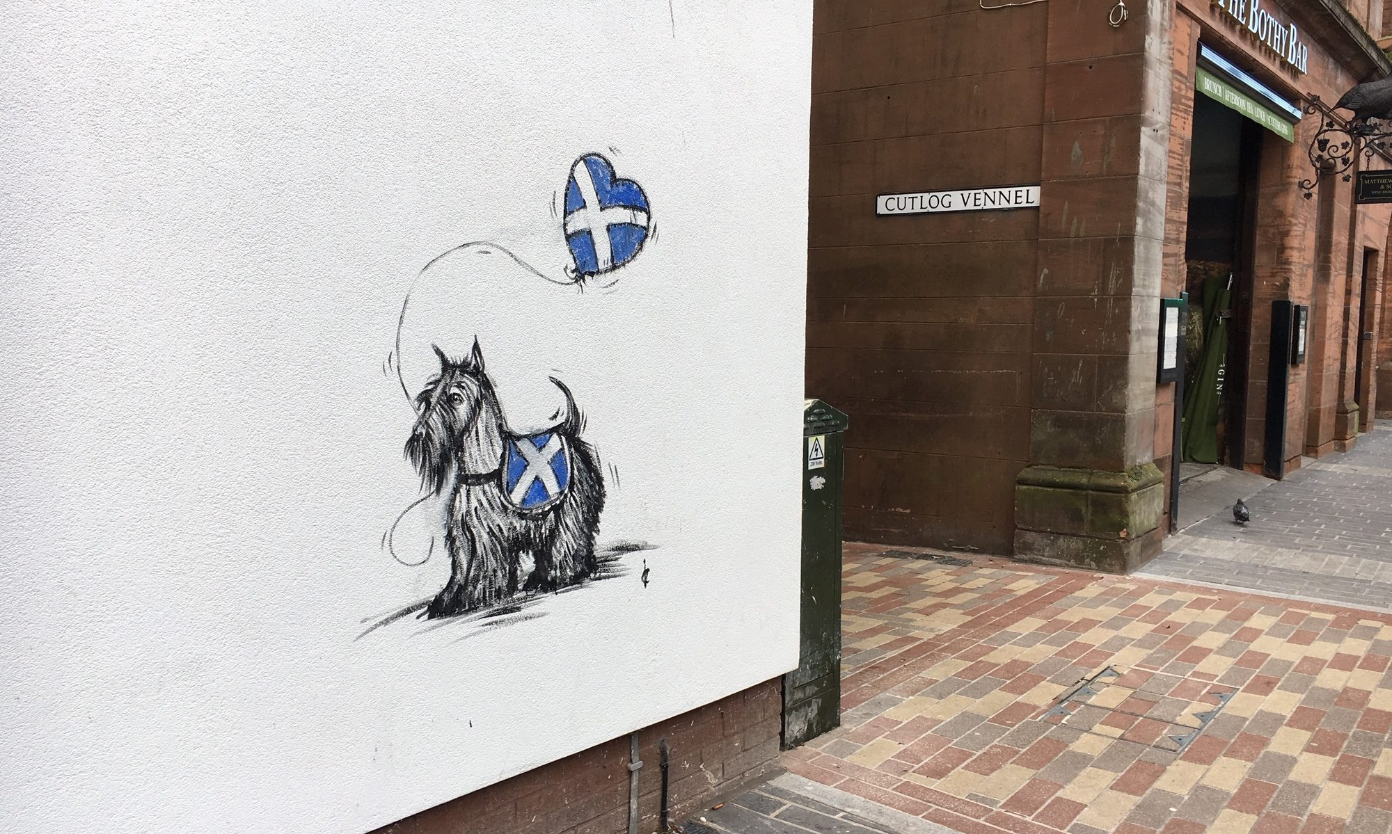 Ian Cuthbert Imrie's latest on-street artwork.