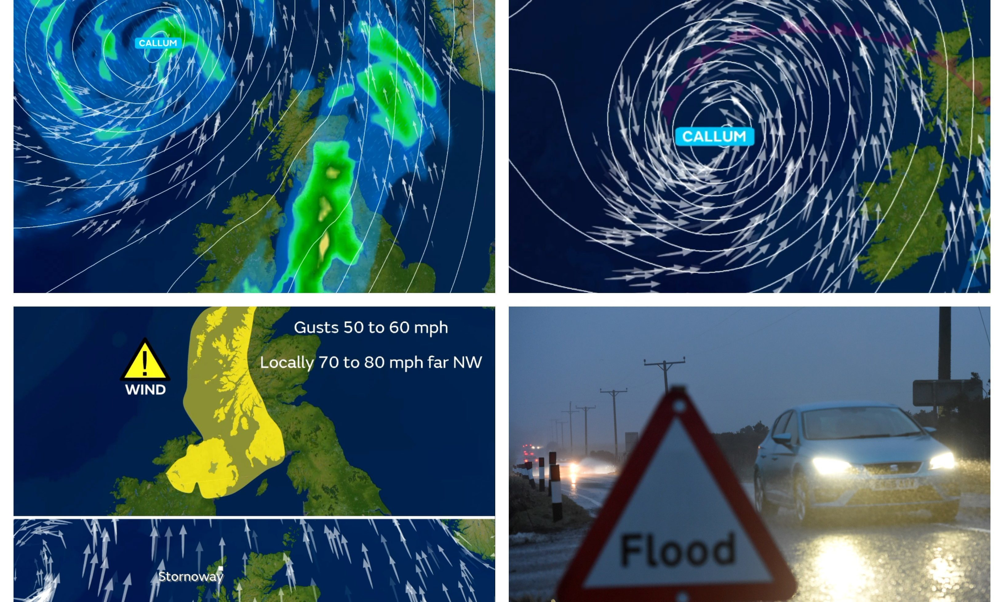 Storm Callum is expected in the coming days.