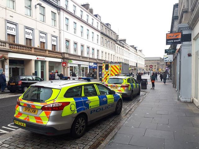 Police attending the incident in Reform Street.