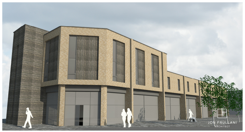 An impression of how the retail unit and flat exteriors might look.