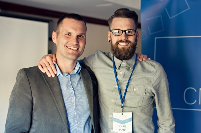 Marcus Sheridan with World Class Communication's co-founder Chris Marr