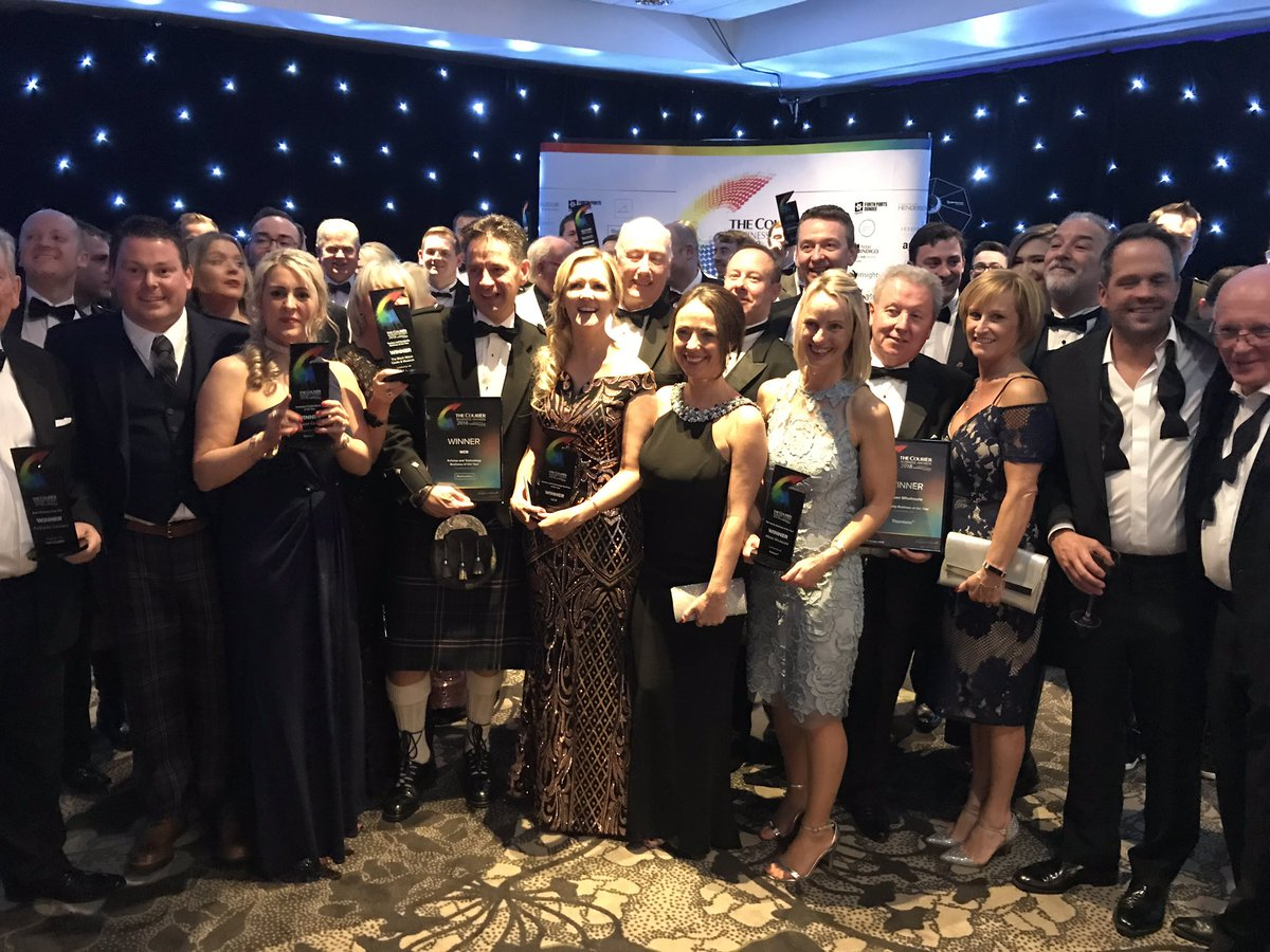 Some of the main winners at the 2018 Courier Business Awards.
