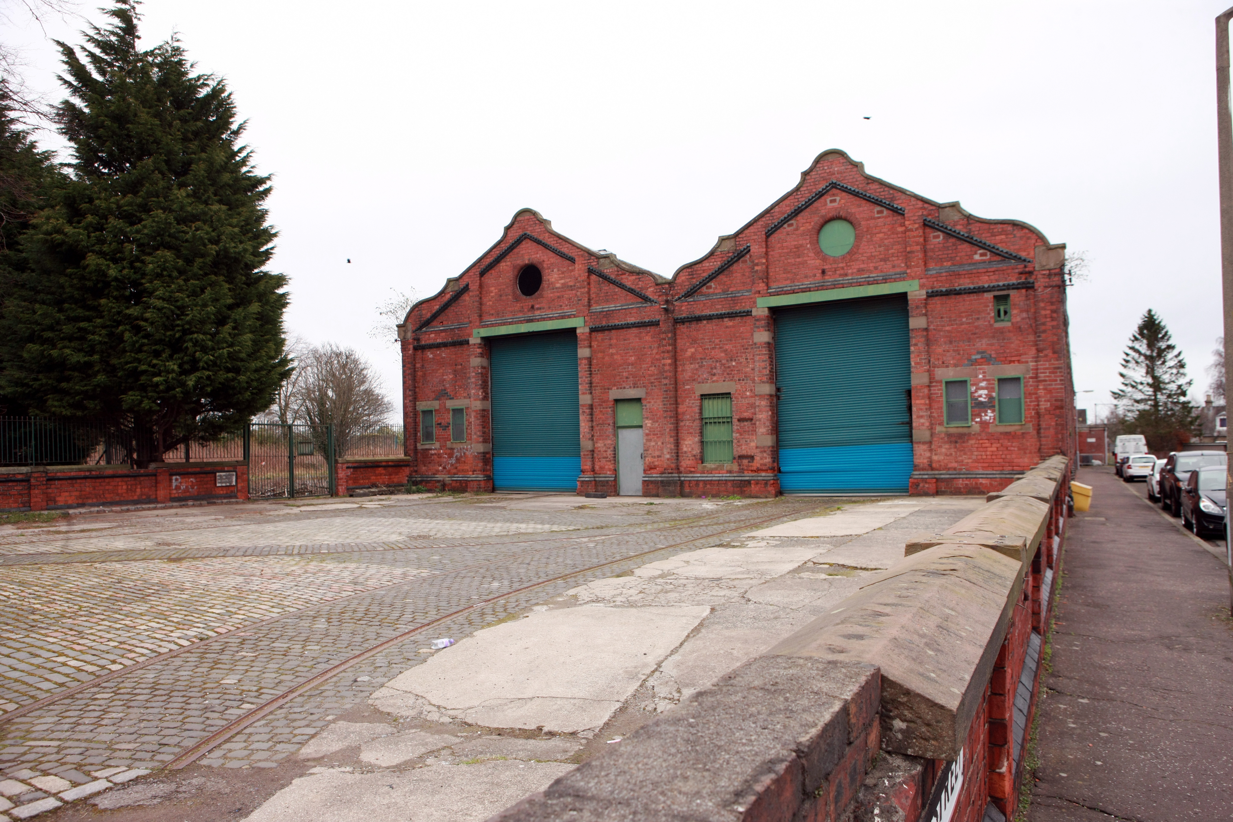 The Maryfield tram depot.