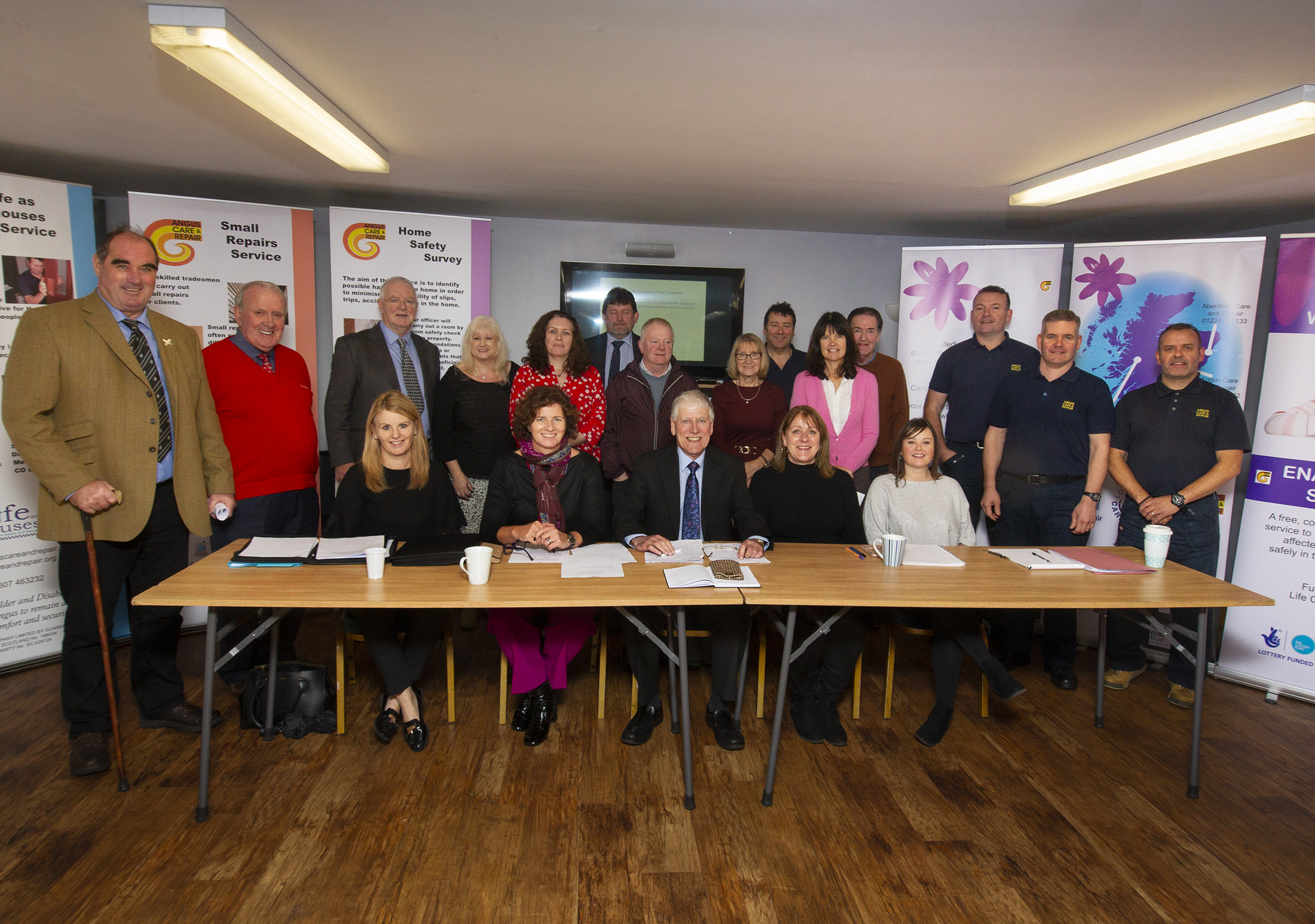 Angus Care and Repair board at their November 2018 meeting in Forfar.