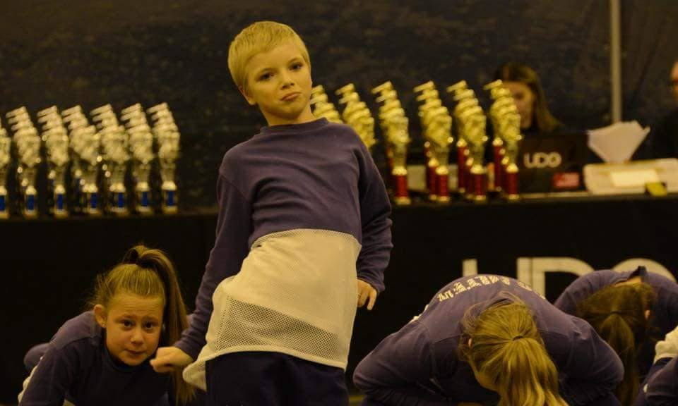 Lily competing in a UDO dance competition in September.