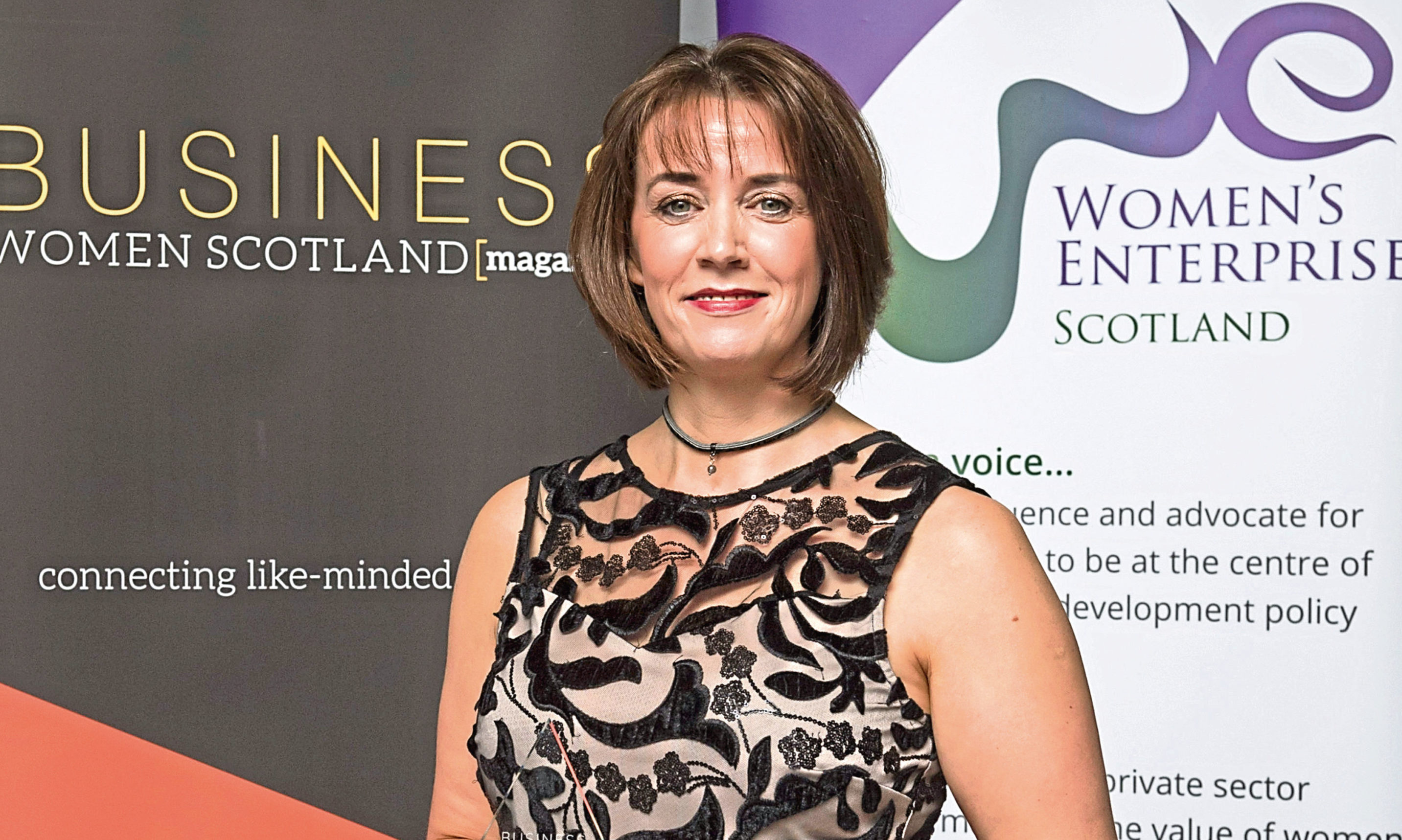 Angie Foreman , who is Programme Director of Coca-Cola 5by20 Dundee  Business Women Scotland and Women's Enterprise Scotland Awards, Grand Central, Glasgow, 2/11/18. Change Catalyst of the Year winner Angie Foreman, Coca-Cola 5by20. Pic free for first use relating to BWS/WES. © Malcolm Cochrane Photography  +44 (0)7971 835 065  mail@malcolmcochrane.co.uk  No syndication  No reproduction without permission