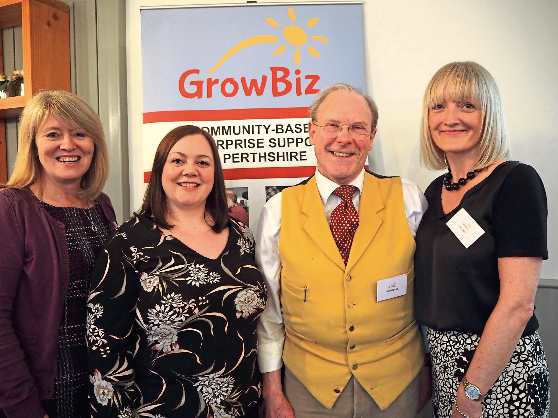 GrowBiz mentoring programme team (from left) Ruth McLaren, Jennifer Lindsay-Finan, Alan Garratt and Clair Smith