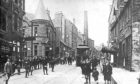 The Hilltown was served by single deck trams, one of which is shown in this 1908 view, Dundee.