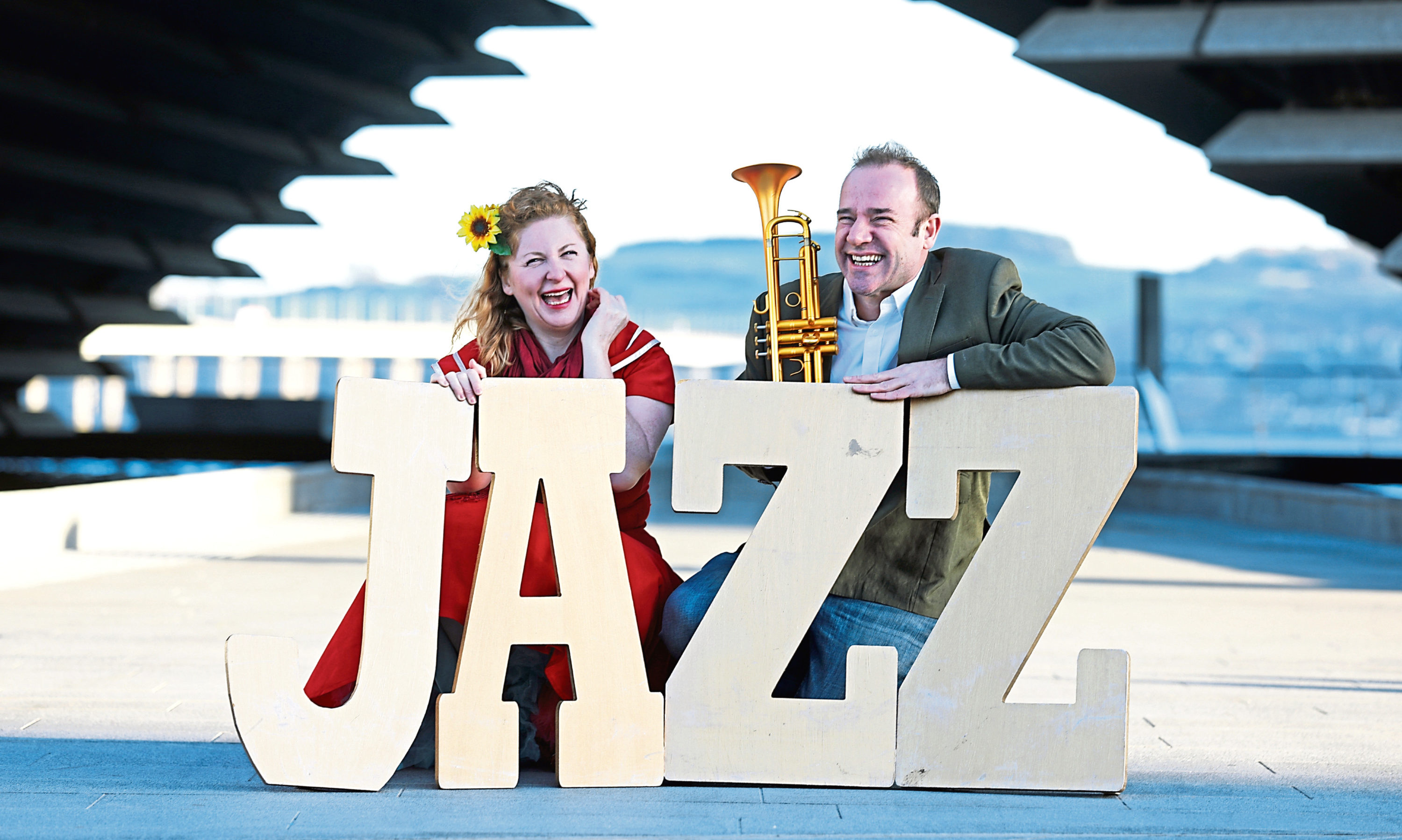 Sensational Scottish-American singer Ali Affleck and Scotland's leading trumpeter Colin Steele launch the Dundee Jazz Festival.