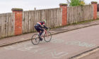 Sean Douglas cycling Dundee Law.
