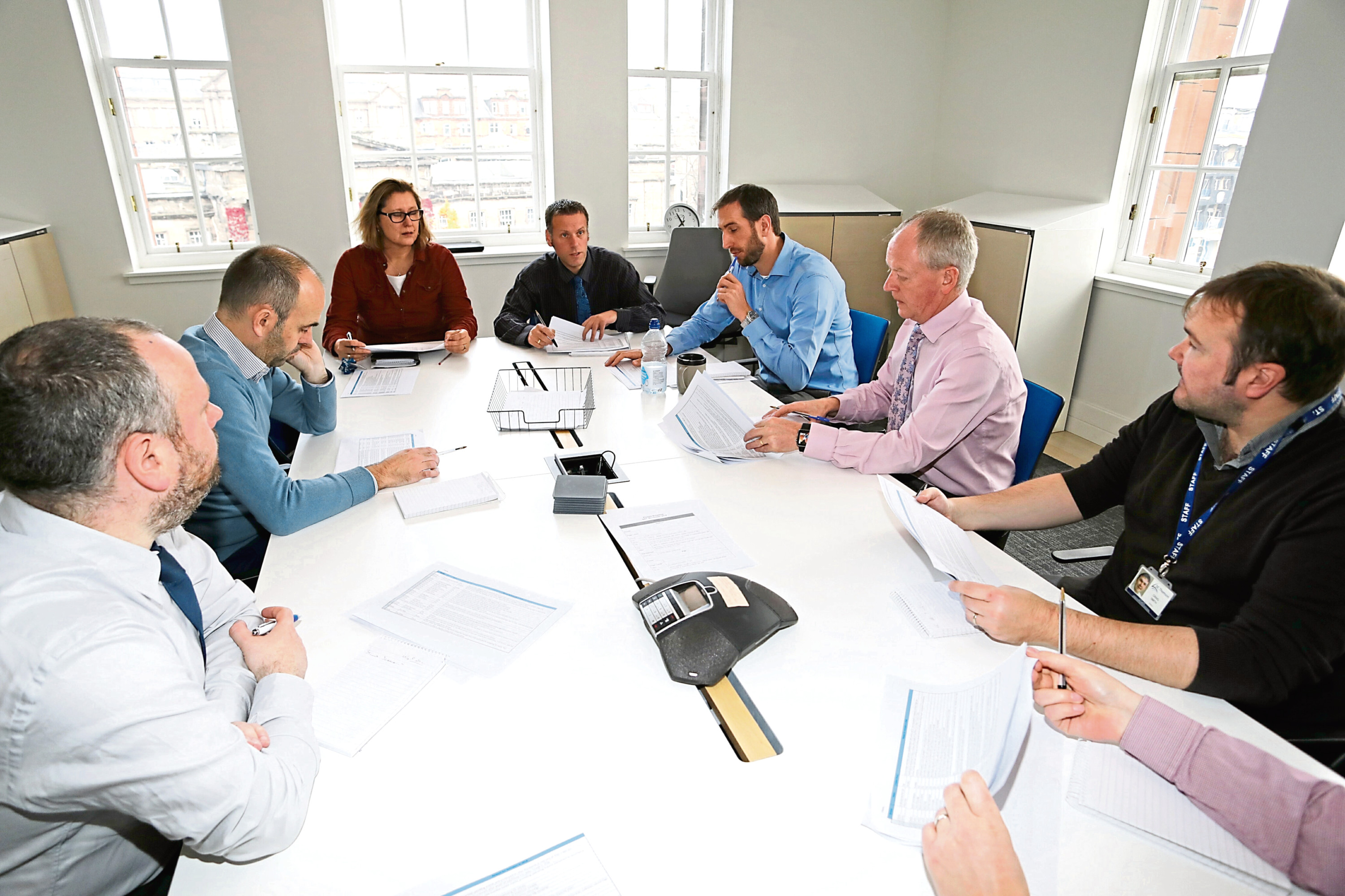 The Impact 100 judging session under way in early November.