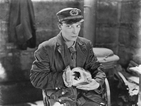 Buster Keaton in Steamboat Bill.