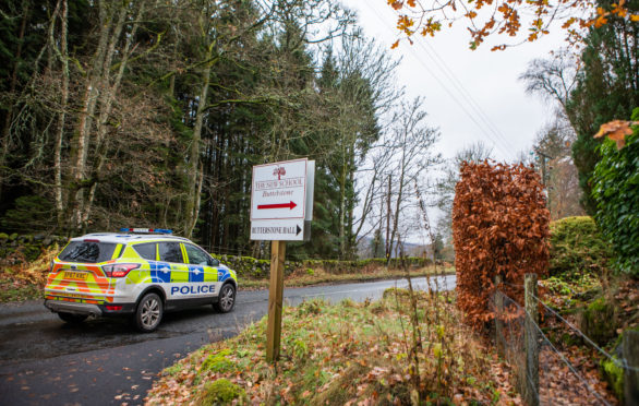 Two police vehicles were sent to the school site on the day Butterstone closed