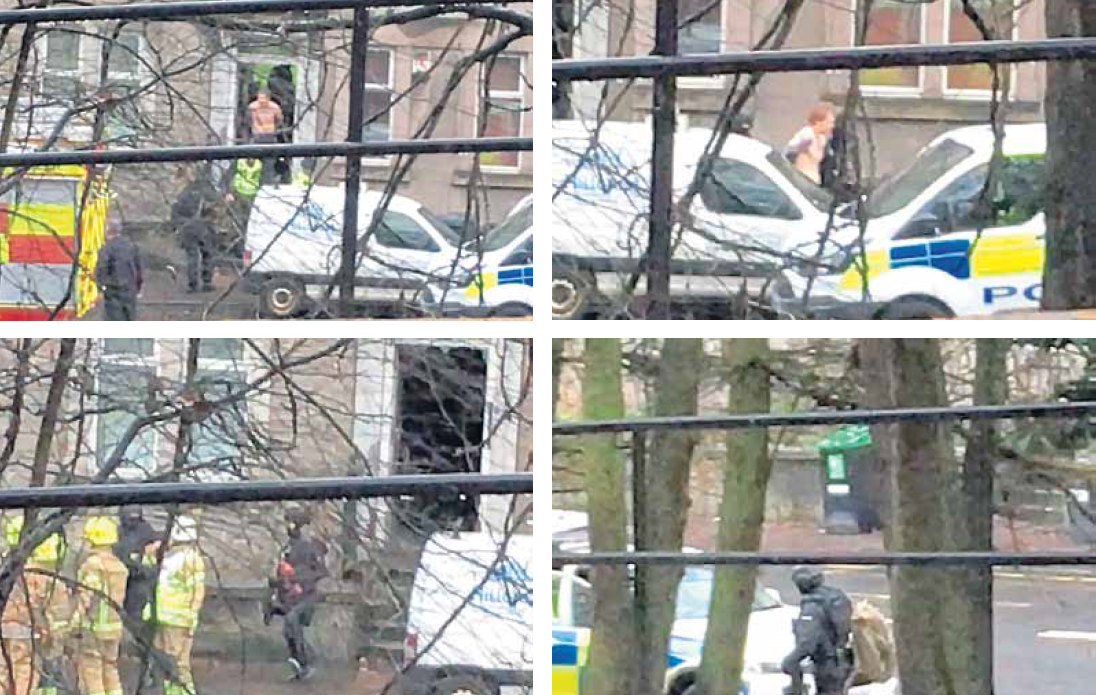 Officers carried out an armed raid in Lochee Road