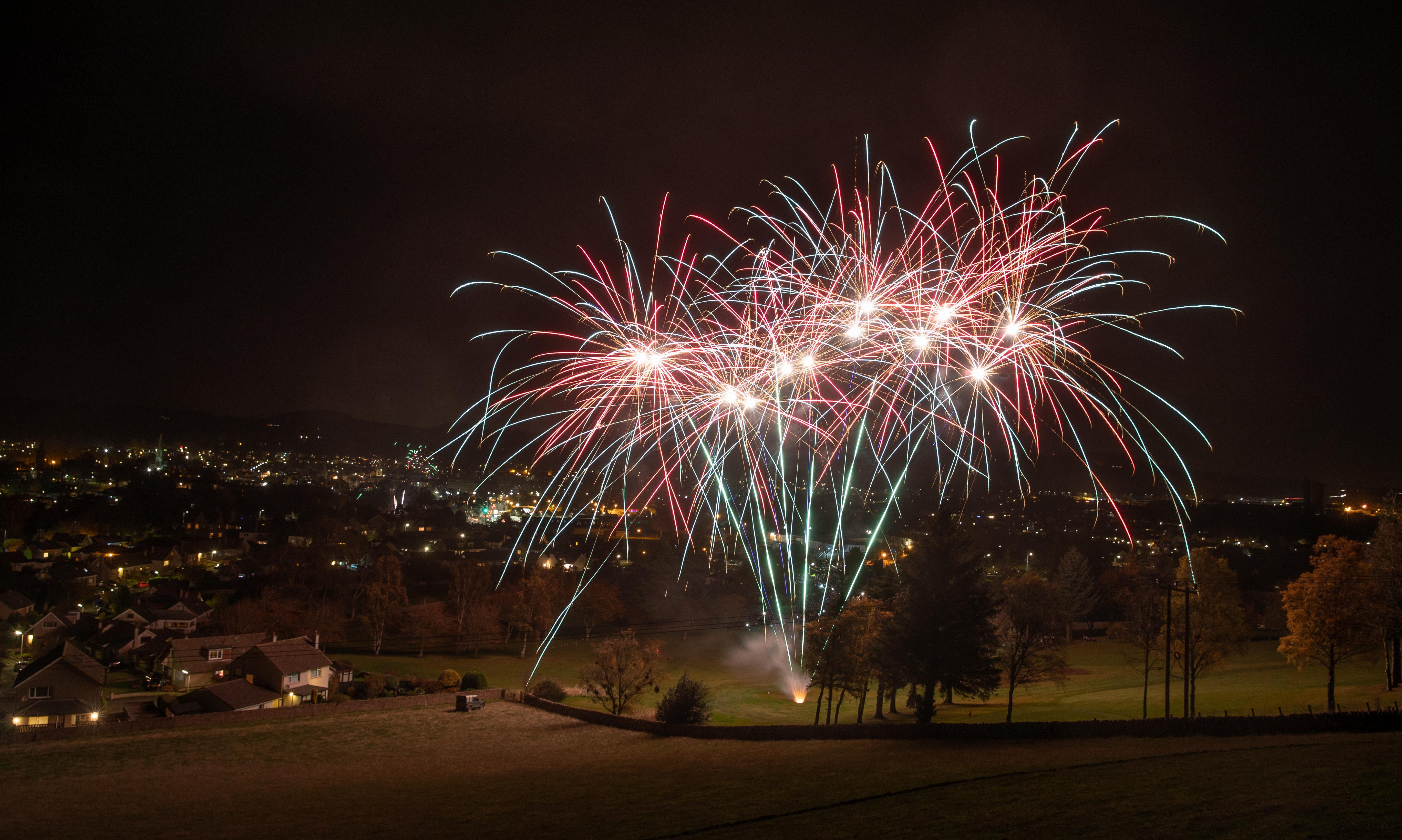Cupar Golf Club fireworks in 2018