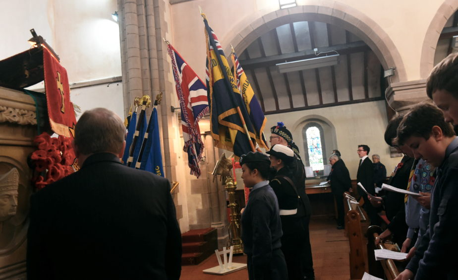 Rememberance Day at Stonehaven's St James Church.