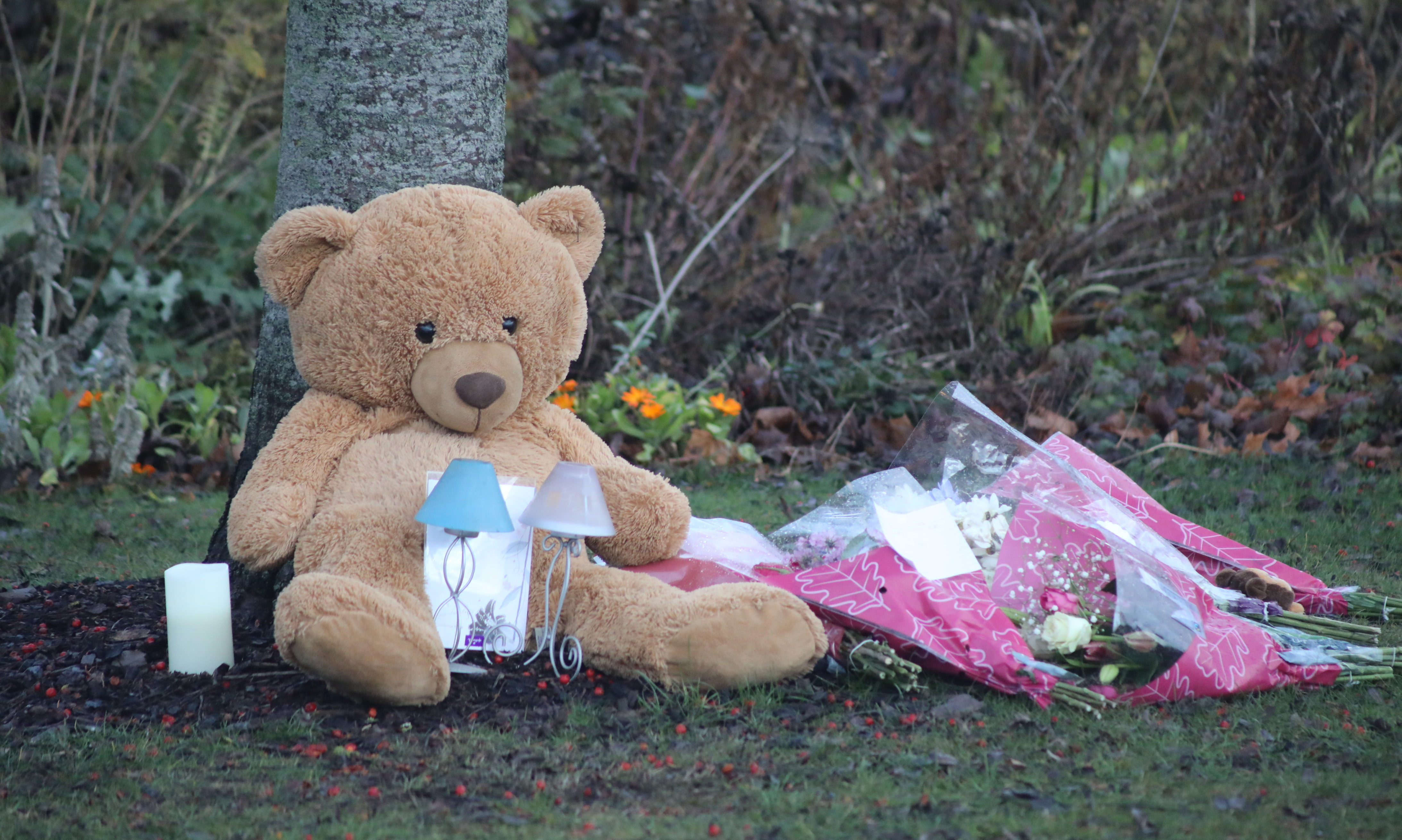 Tributes left after the tragic events in Coupar Angus.